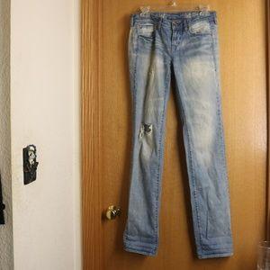 Distressed Madewell Rail Straight Jeans 26 x 34